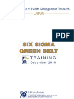 Six Sigma Green Belt Training Handout_IIHMR