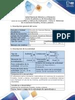 Guía de actividades y rúbrica de evaluación - Tarea  2 - Sistemas de ecuaciones lineales, rectas, planos y espacios vectoriales