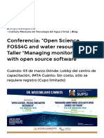 "Conferencia_ ""Open Science, FOSS4G and water resources"" y Taller _Managing monitoring data with open source software_ _ Instituto Mexicano de Tecnología del Agua _ Gobierno _ gob.mx"