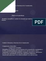 Elementos y Funciones de la Comunicacion
