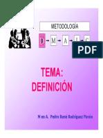 Definicion  Seis sigma Oct 2015