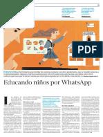 Educando niños por WhatsApp