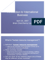 Introduction to International Business 4-20-07