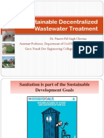 Sustainable Decentralized Wastewater Treatment