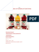 determination of cold drinks