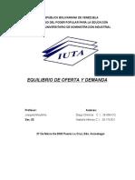 EQUILIBRIO DE OFERTA Y DEMANDA