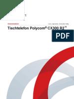 Tischtelefon Polycom® CX300 R2™ Handbuch Bedienungsanleitung CX300R2_UG_de.pdf