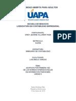 SEMINARIO DE CONTABILIDAD - TAREA UNIDAD II