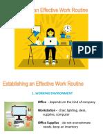 Establishing Effective Work Routine