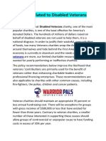 Key Facts Related to Disabled Veterans Charity