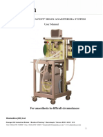 Diamedica Glostavent Helix Anaesthesia System - User manual
