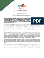 Communique de presse du Snes-FSU en Centre Val-de-Loire sur les vacances scolaires