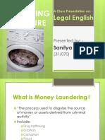MONEY LAUNDERING PROCEDURE presentation by Sanitya Kalika