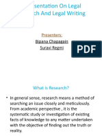 Legal Research and Legal Writing-Presentation