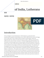 History of India, Lutherans in 1909-2009