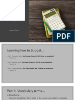 Learning How to Budget Student Sample 1