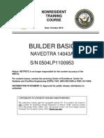 NAVEDTRA 14043A Builder Basic Part 1