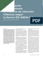 Determinación del rendimiento en motores de inducción trifásicos según la Norma IEC 60034-2-1
