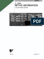 Yasnac J50M Descriptive Information for Machining Centers