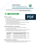 FCPS Continuity of Learning Plan, April 9, 2020
