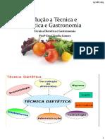Introducao a Tecnica e Dietetica e Gastronomia