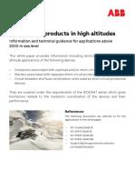 ABB-LVP in high altitudes