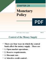 Lipsey Ch29-Monetary Policy