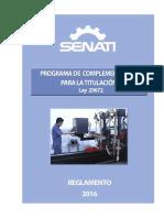 3. Reglamento Programa de Complementación