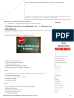2018 General Education Reviewer Part 2_ 50 Questions with Answers - LET EXAM - Questions & Answers