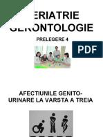 GERIATRIE GERONTOLOGIE- curs 4 urinare