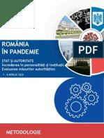ROMÂNIA ÎN PANDEMIE _Aprilie 2020_Partea I