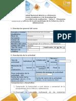 Guía de actividades y rúbrica de evaluación -Tarea 1 - Elementos históricos y teóricos de la psicopatología de la Infancia y de la Adolescencia.docx
