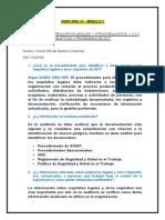 FORO N°1 , MODULO 2 - LEONEL GAMERO CARDENAS