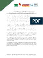 200401.Communiqué SUP année académique 2019-2020