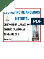 2DO RETIRO DE ANCIANOS DISTRITAL