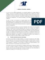 recurso de apelacion y derecho procesal laboral