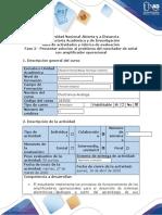 Guía de actividades y rúbrica de evaluación - Fase 3 - Presentar solución al problema del mezclador de señal con amplificador operacional