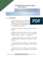 4.-MEMORIA DESCRIPTIVA ELECTRICAS CONACHE