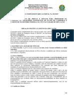 Normas complementares 2017 - area II Politicas e Gestao edital 021-2017