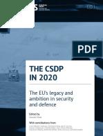 CSDP in 2020