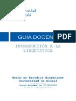 Programa Introducción a la Lingüística UAH