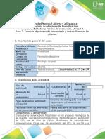 Guía de actividades y rúbrica de evaluación - Paso 3 - Conocer el proceso de fotosíntesis y metabolismo en las plantas