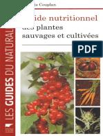 EBOOK Francois Couplan Guide nutritionnel des plantes sauvages et cultivees