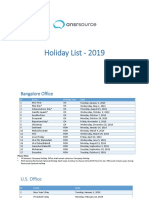 Holiday List _2019