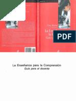 La enseñanza para la comprensión guía para el docente by Tina Blythe (z-lib.org).pdf