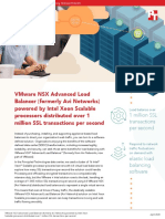 VMware NSX Advanced Load Balancer (formerly Avi Networks) powered by Intel Xeon Scalable processors distributed over 1 million SSL transactions per second