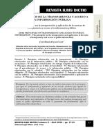 Principios Del Acceso a La Información Pública - Autor José María Pacori Cari