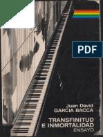 Garcia Bacca. Transfinitud e Inmortalidad