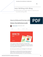 How to  Format a White Paper_ The Definitive Guide