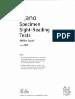 ABRSM sight reading